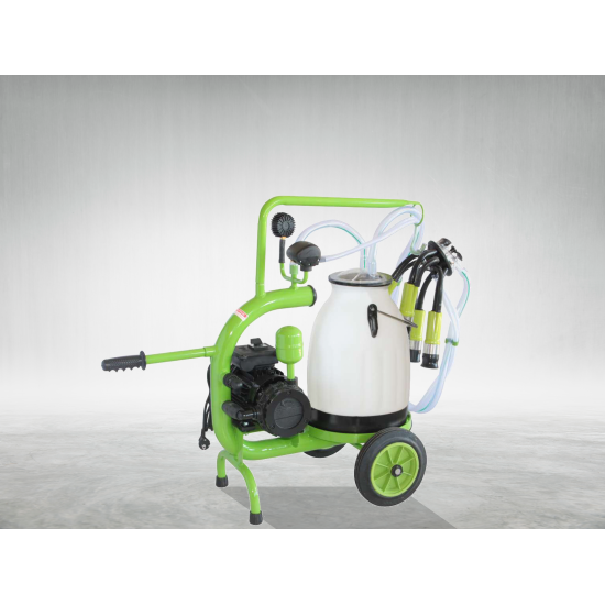 C30 model single milking single narrow plastic bucket dry pump 30 lt