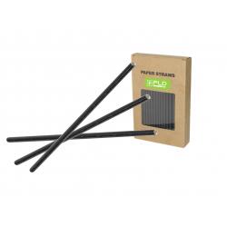 Paper straw black 8 MM X 240 MM